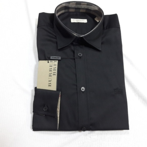 Burberry Other - BURBERRY BRIT MEN`S CASUAL COTTON BLACK SHIRT